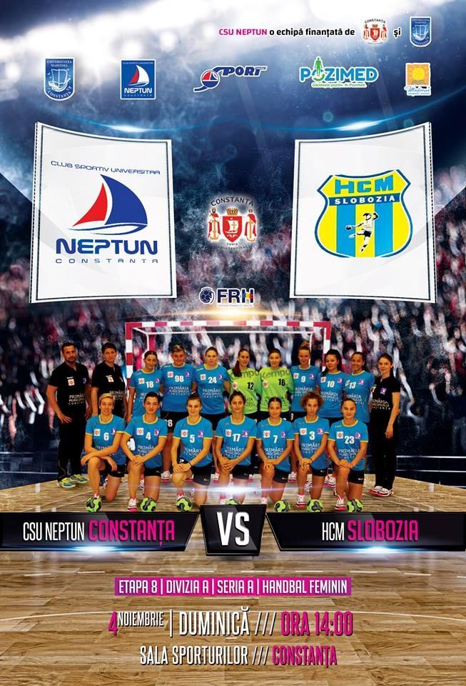 afiș handbal feminin CSU Neptun Constanța vs. HCM Slobozia 04.11.2018