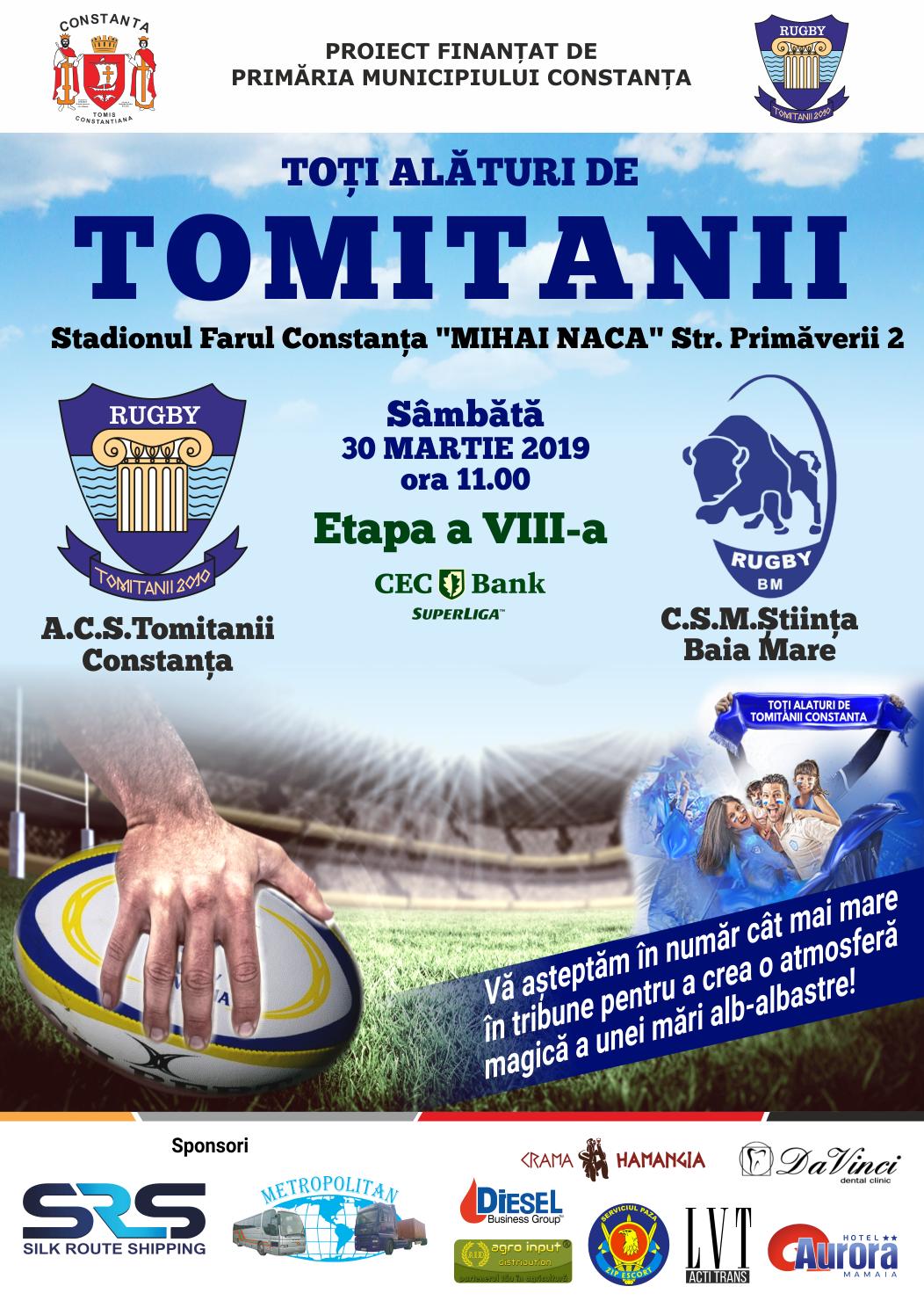 afis A.C.S Tomitanii Constanta vs. C.S.M Stiinta Baia Mare 30.03.2019