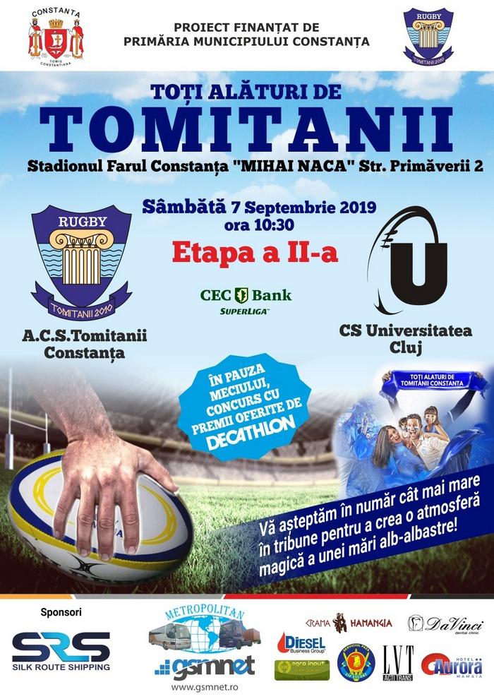 afis ACS Tomitanii Constanta vs CS Universitatea Cluj 07.09.2019 site