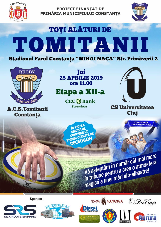 afis ACS Tomitanii vs. CS Universitatea Cluj 25.04.2019
