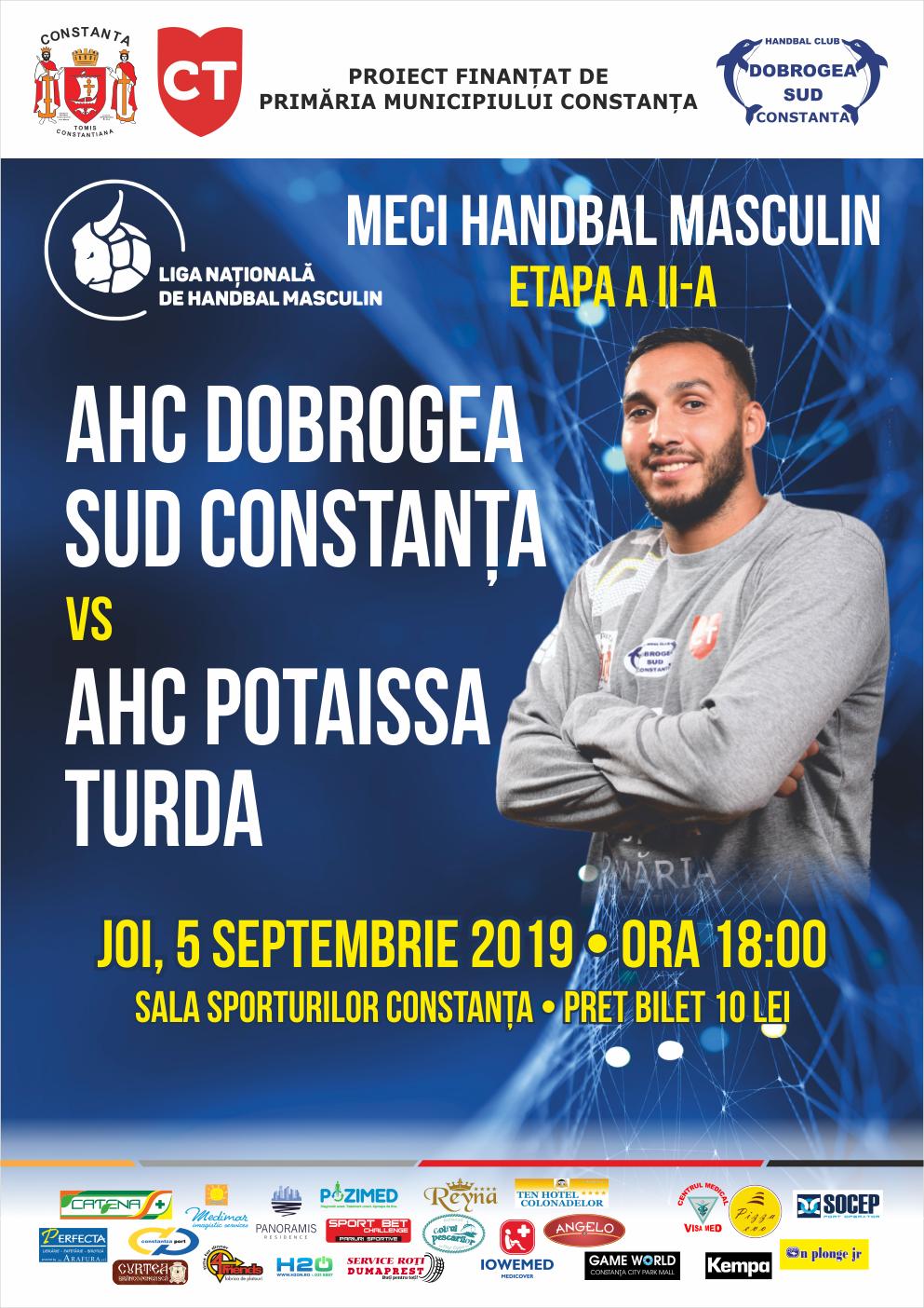 afis AHC Dobrogea SudConstanta vs. AHC Potaissa Turda 05.09.2019