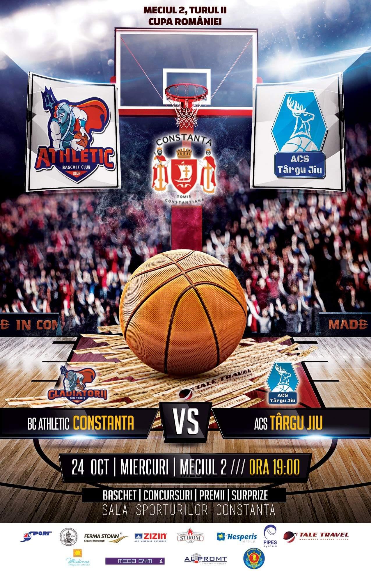 afis BC Athletic Constanta vs. ACS Târgu Jiu