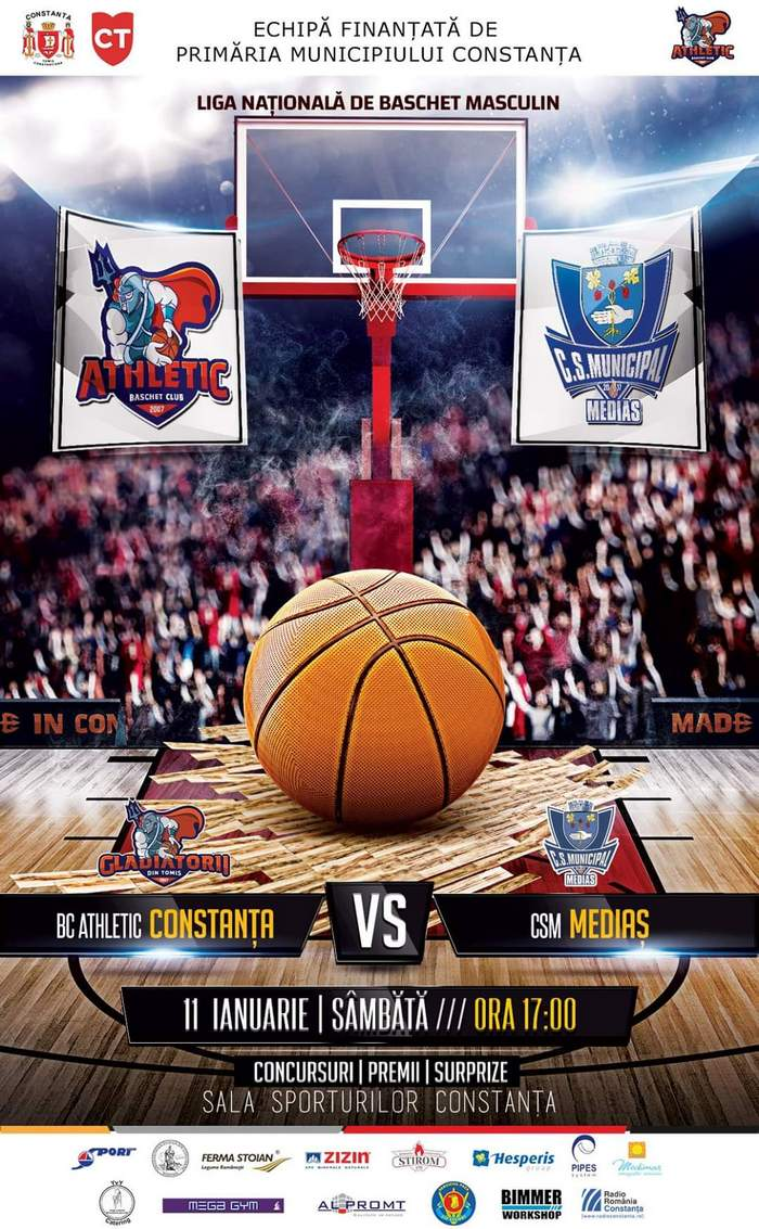 afis BC Athletic Constanta vs CSM Medias 11.01.2020 site