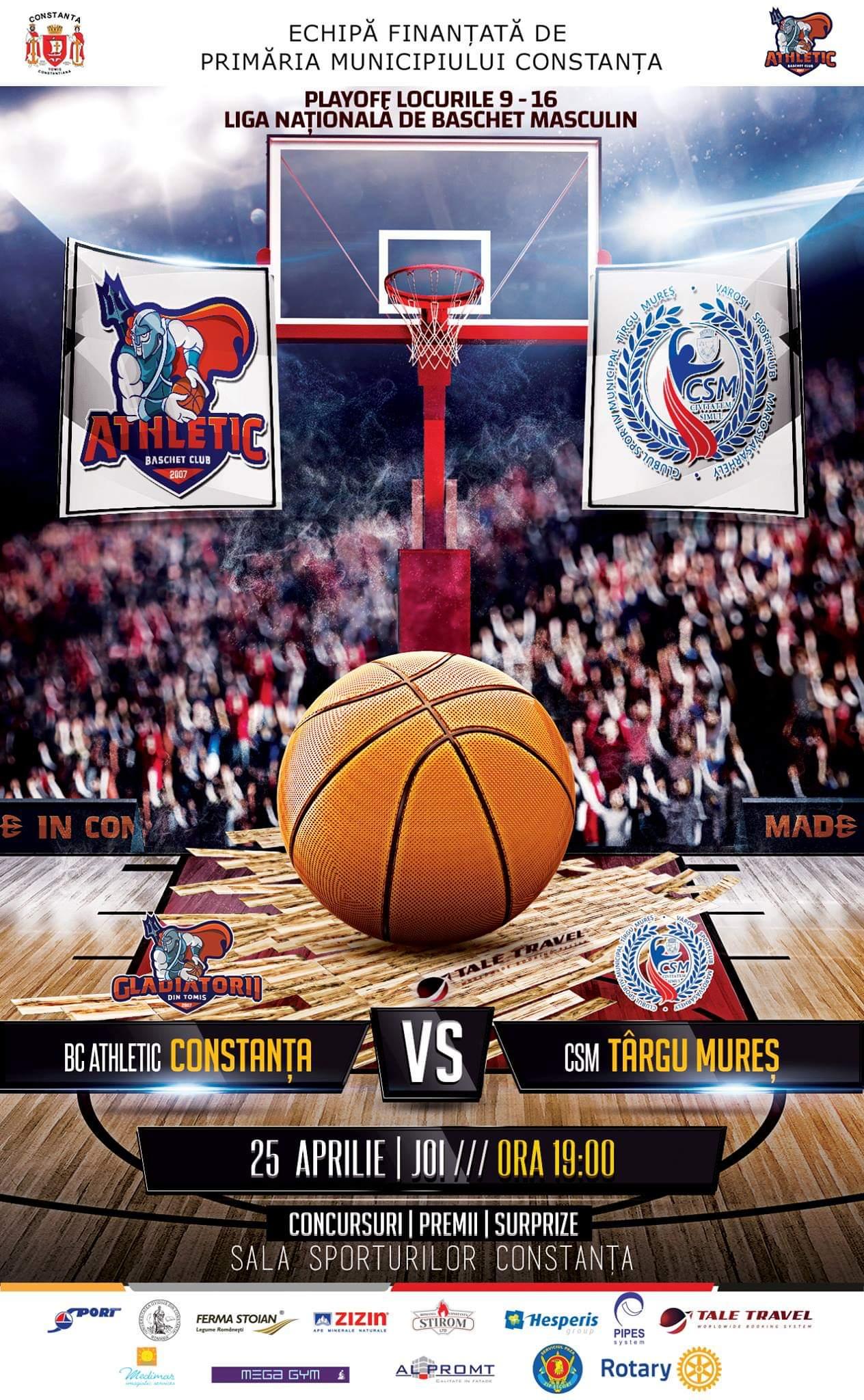afis BC Athletic Constanta vs. CSM Targu Mures 25.04.2019