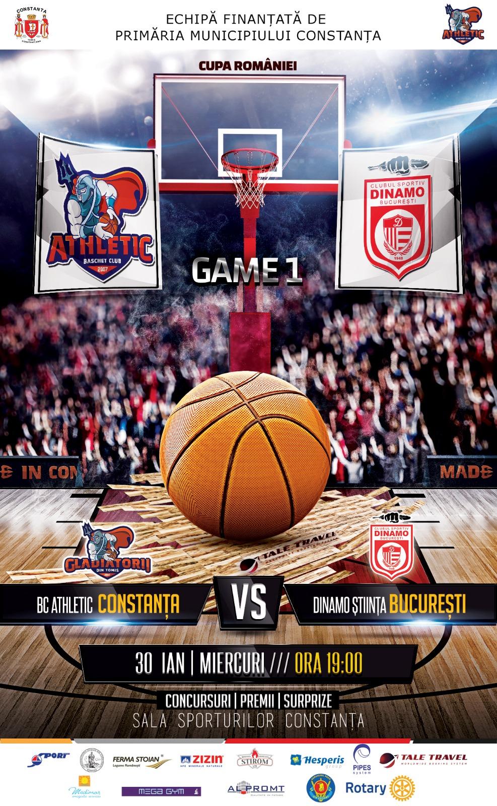 afis BC Athletic Constanta vs Dinamo Stiinta Bucuresti 30.01.2019