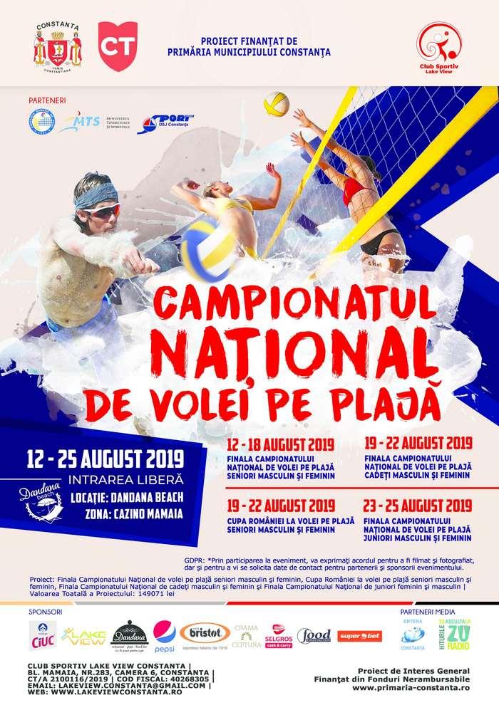 afis Campionatul National de volei pe plaja site