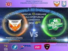 afis CS Phoenix Stiinta Constanta vs. Sepsi Sf Gheorghe 13.02.2019