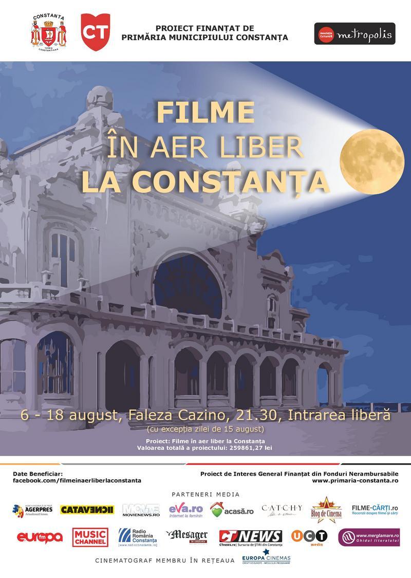 afis Filme in aer liber la Constanta site