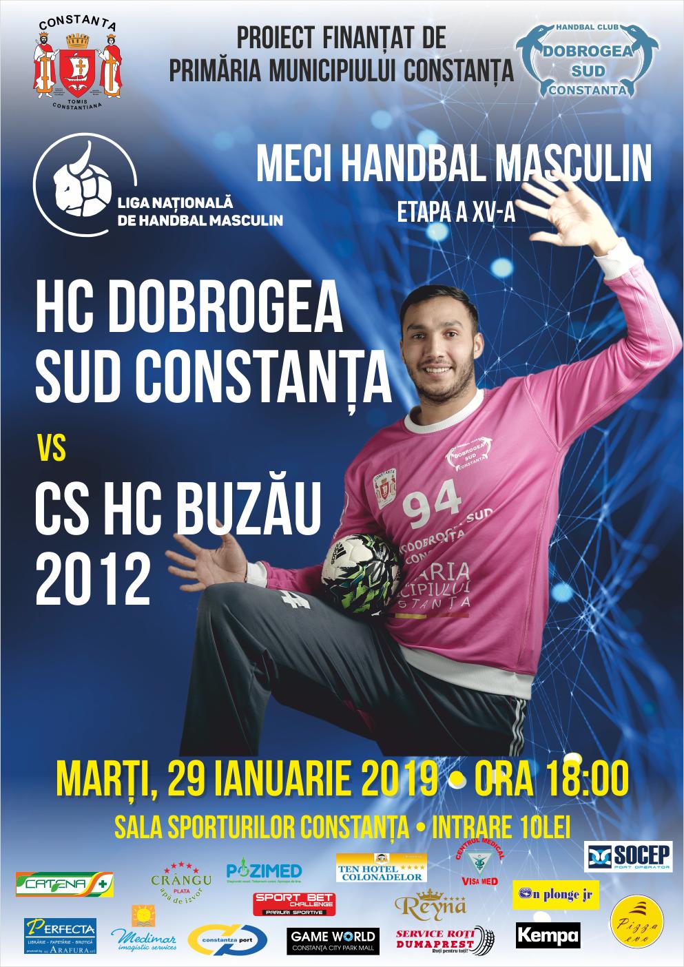 afis HC Dobrogea Sud Constanta 29.01.2019