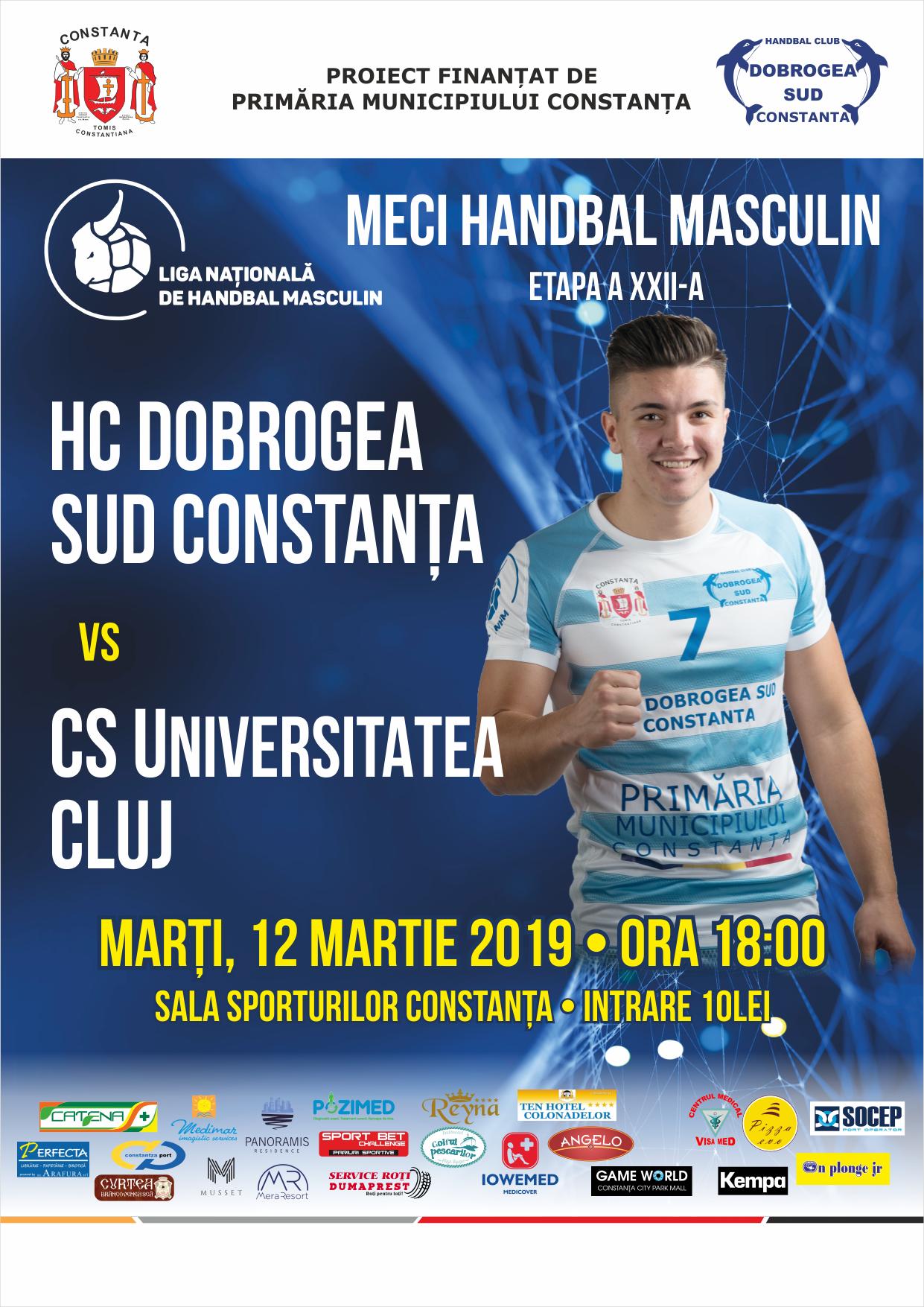 afis HC Dobrogea Sud Constanta vs. CS Universitatea Cluj 12.03.2019.png afis final