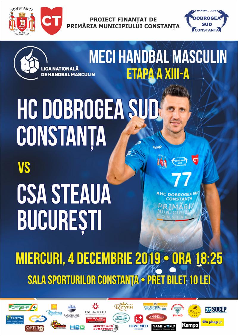 afis HC Dobrogea Sud Constanta vs CSA Steaua Bucuresti 04.12.2019 site