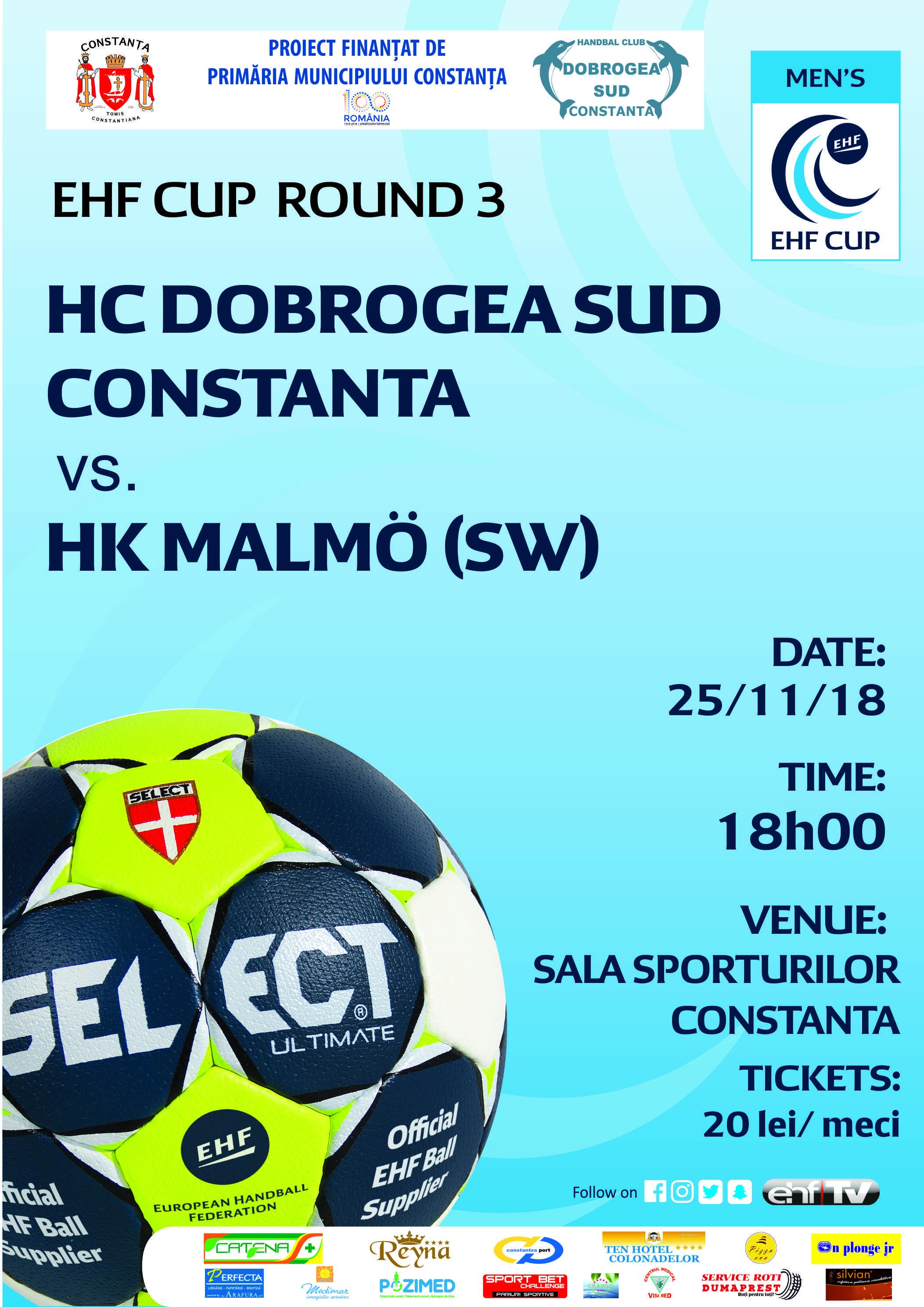 afis HC Dobrogea Sud vs HK Malmo(SW) 25 .11.2018
