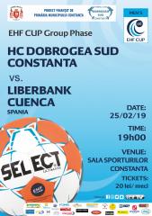 afis meci Hc Dobrogea Sud vs. Liberbank  Cuenca Spania 25.02.2019