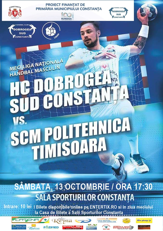 afis meci liga națională handbal masculin HC Dobrogea Sud