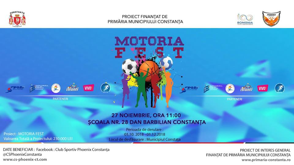 afis Motoria Fest  Scoala nr.28 Dan Barbilian 27.11.2018