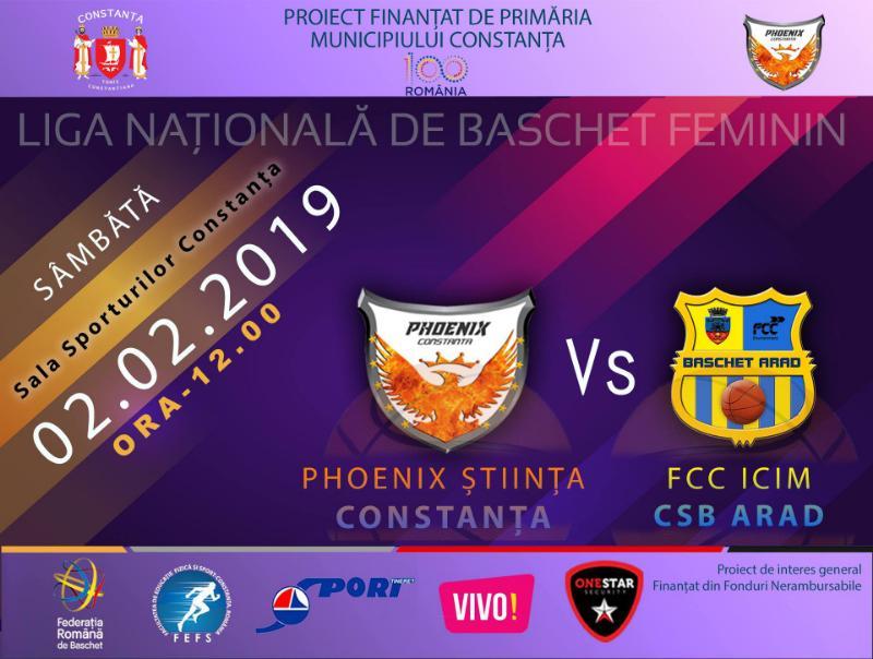 afis Phoenix Stiinta Constanta vs FCC ICIM CSB Arad 02.02.2019